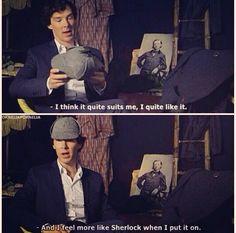 The hat. Sherlock.