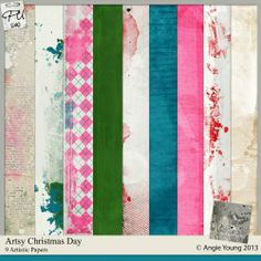 Artsy Christmas Day - Papers by Angie Young