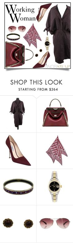 Working Woman by snobswap on Polyvore featuring Rolex, Chanel, Hermès and Louis Vuitton