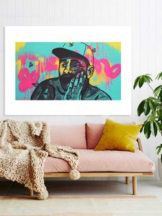 $89 Tyler the Creator - Landscape Art Print This unique artwork of the quirky rapper Tyler the Creator was hand painted by Artist and Designer Juzpop with spray paint and ink. The original art work was then digitally reproduced as Limited Edition giclée art prints on 230gsm paper, only 100 will ever be made. Free shipping Australia wide.