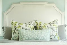 Love the pattern mix and colour combination, so pretty House of Turquoise: Shea McGee Design
