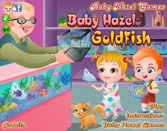 Baby Hazel and Liam are happy to have a new pet, a goldfish, whom they named Goldie. Kids are too young to look after the delicate fish, help them in feeding fish and making a fish tank for Goldie to live in. http://www.babyhazelgames.com/games/baby-hazel-goldfish.html