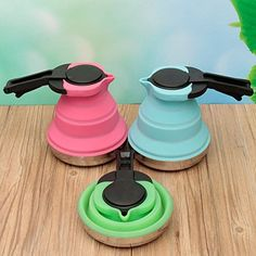 Camp Kitchen - Outdoor Collapsible Silicone Kettle For Camping Travel  Foldable Design Compact and Portable ** Click image to review more details.