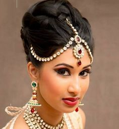Indian bridal hairstyle for wedding 3