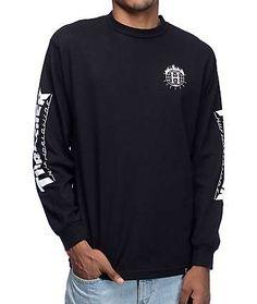HUF x Thrasher TDS Black Long Sleeve T-Shirt