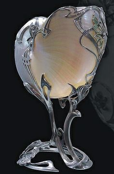 tawnyscostumesandcuriosities: gümüş Art nouveau deniz kabuğu