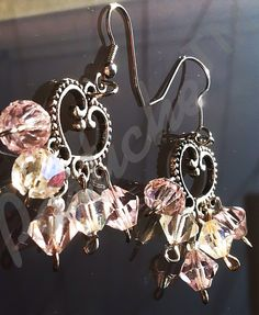 Sterling Silver and Swarovski Pink and White by PASTICHEfashion, $30.00