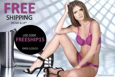Pre-V-Day Sale: Free Shipping! We love to share hot deals on lingerie & fashion with you.  Free Shipping on Lingerie & Apparel | www.ShopNTL.com | #BraDoctor | by Now That's Lingerie