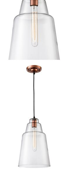 Add a subtle touch of style and welcome burst of light to your entryway or dining room with this cool, clean pendant light. Sleekly designed, this Devon Pendant Light features a funnel-shaped glass sha...  Find the Devon Pendant Light, as seen in the Rustic Farmhouse Fun Collection at http://dotandbo.com/collections/rustic-farmhouse-fun?utm_source=pinterest&utm_medium=organic&db_sku=114789