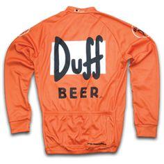 Discontinued Duff Beer Winter Cycling Jersey | Foska.com