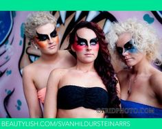 Black raven wings on coloured cheeks. | Svanhildur S.'s (svanhildursteinarrs) Photo | Beautylish