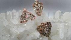 Arcillas de metal de Hadar de cobre y bronce, metal clay, inspirado en el trabajo de Anna Mazon, metal clay, Artista Tania Marzuca Rivero