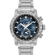 Mens Citizen World Time A-T Alarm Eco-Drive Watch AT9070-51L 0e7671c442d