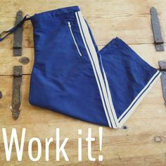 """3/$15 SALEAthletic pants Navy blue with white stripes. They're cropped, have zip closure pockets & a drawstring waist. 100% poly. Waist:16"""", length:30"""", inseam:20"""".BUNDLE ANY 3 ITEMS MARKED $10 or LESS FOR $15  OR $5 EACH (3 ITEM MINIMUM)MESSAGE ME FOR YOUR NO HASSLE BUNDLEI HAVE TO MANUALLY CREATE THE CLEARANCE BUNDLES Aspire Pants"""
