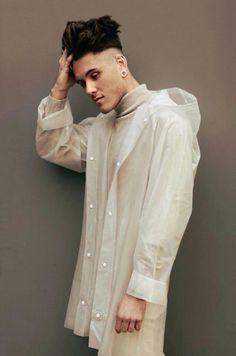 Matte White Raincoat