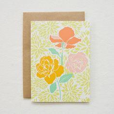 january roses card. $4.50, via Etsy.