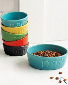 Bauer Earthenware Dog Bowl