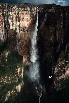 Angel Falls, Venezuela  The world's tallest waterfall is 3,287 feet (1,002 meters) tall- more than 19 times taller than North America's Niagara Falls. Gorgeous!