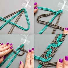Use beads and jewelry thread to DIY this spring necklace. ~ Tenacity Solution