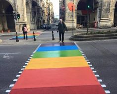 No zebras here! St Anne Street in Floriana gets Malta's first ever rainbow-coloured pedestrian crossing 'to support gender diversity' - from Bay Easy Malta