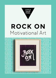 Best Free Printables For Your Walls - Free Art Printable Rock On With Your Bad Self - Free Prints for Wall Art and Picture to Print for Home and Bedroom Decor - Crafts to Make and Sell With Ideas for the Home, Organization Free Prints, Wall Prints, Organization Quotes, Simple Wall Art, Crafts To Make And Sell, Motivational Posters, Letter Art, Print Pictures, Printable Wall Art