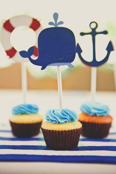 A Nautical 2nd Birthday Party from Fleur de Lis  Read more - http://www.stylemepretty.com/living/2013/10/11/a-nautical-2nd-birthday-party-from-fleur-de-lis/