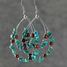 "The tear drop hoop earrings are handmade using semi precious stone Jade and Czech crystal glass. Free US shipping. Customers who purchased this item said: -""Great pair of earrings! I will be back!"" -""The person I bought this for loves her earrings! It's just as described in the picture and she said it's beautiful."" -""V"