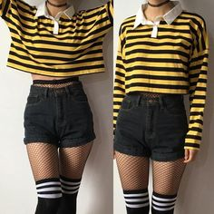 2018 new bee happy collection - long sleeve . 2018 new bee happy collection – long sleeve top – Edgy Outfits, Teen Fashion Outfits, Cute Casual Outfits, Cute Fashion, Girl Outfits, Fashion Styles, Summer Outfits, Trendy Fashion, Hipster Outfits
