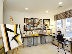 Chic Studio Space : Carlyn & Co Interior Designs : Home Offices : Pro Galleries : HGTV Remodels