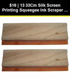 Silk Screen Printing Squeegees Scratch Board Wooden Ink Scraper Wooden Squeegee