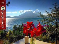 #Follow @gezginzureyfa: Good morning from paradise #Lake #Atitlan #Guatemala #ILoveAtitlan #AmoAtitlan #Travel #Volcano #LakeAtitlan #LagoAtitlan #CentralAmerica by okatitlan