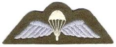 British Parachute Wings.  I earned these in 1994 while attached to the 3rd Battalion, The Parachute Regiment.