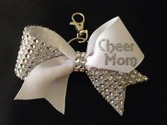Mini BLING Cheer Mom Bow Key Chain by PixieDustPaiges on Etsy, $8.00