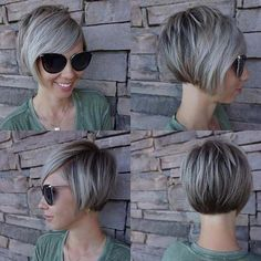 Short Hairstyles For Fine Hair Are Wonderful Inspirations For 2019 - Hair Hairstyles shortfinehair shorthair shorthairstyle - Trendy Hairstyles - Hairstyles 2019 642185228094378100 Stacked Bob Hairstyles, Popular Short Hairstyles, Bob Hairstyles For Fine Hair, Best Short Haircuts, Hairstyles Haircuts, Trendy Hairstyles, Wedding Hairstyles, Short Stacked Bob Haircuts, Short Stacked Bobs