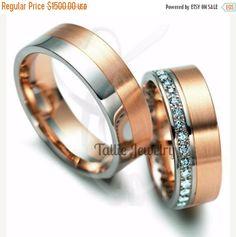 ONSALE8/12-8/31 Diamond Wedding Bands,Womens Wedding Bands,10K Gold Mens Wedding…