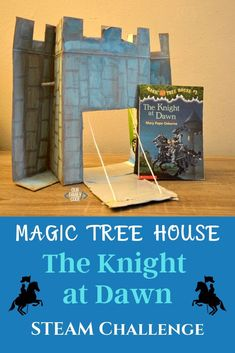 This castle STEAM challenge is a great activity to pair with the Magic Tree House book, A Knight at Dawn. You'll love this Frozen castle drawbridge twist! Steam Activities, Science Activities For Kids, Spring Activities, Book Activities, Toddler Crafts, Preschool Crafts, Fun Crafts, Steam Learning, Teaching Kids
