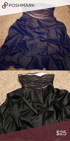 Homecoming dress Cute pick up on skit. Sheer with polka dots over pink fabric on top. Asymmetrical waist line. Worn once. Perfect condition. Dresses Prom