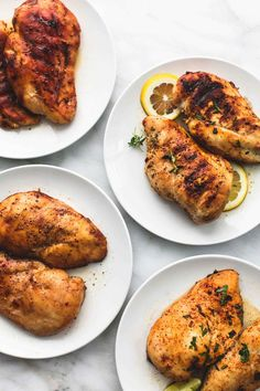 Four of the very BEST easy 5 ingrdient chicken marinades – honey chipotle, lemon herb, ...