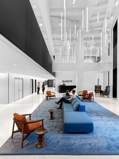 Sony Corporation of America Contemporary Office, Contemporary Interior Design, Best Interior Design, Interior Design Studio, Home Office Design, Corporate Interior Design, Corporate Interiors, Office Interiors, Studios Architecture