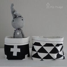 mandjes zwart wit 2 Hip Huisje