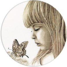 Butterfly Girl - Cross Stitch Kit