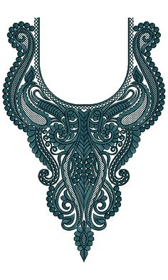 9739 Neck Embroidery Design