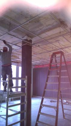 Fase 1, verwijderen Systeemplafond