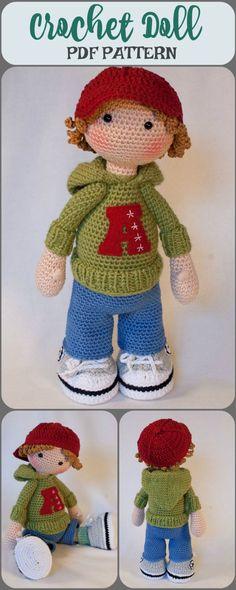 Amigurumi Crochet Boy Doll