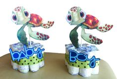 Mini Diaper Cakes  Squirt  Finding Nemo  Baby by GioviPartyDecor, $10.00