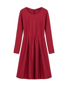 Wool-blend jersey corolla dress, red - 119€ - Max&co