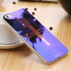 Beautiful Blue Ray Light Clear Mobile Phone Case For iPhone