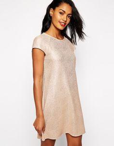 Image 1 ofRiver Island Glitter Swing Dress
