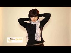How to tie a scarf, lots of different ways. She makes it looks so simple! Искусство завязывания шарфов от WoolHouse - YouTube