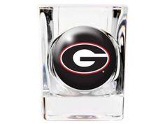 Georgia Bulldogs NCAA 35mm Square Shot Glass New